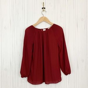 MAX STUDIO Women's Career Blouse Tunic Red Size S